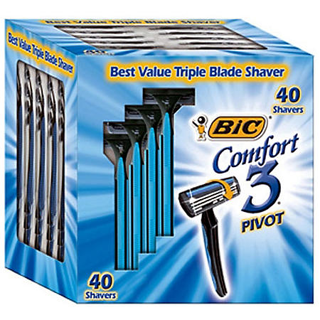 Bic Comfort 3 Pivot Shavers 40 Ct