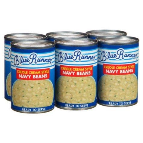Blue Runner Creole Cream Style Navy Beans-4/6 pk.