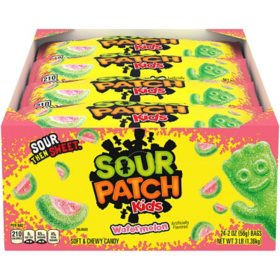 SOUR PATCH KIDS Watermelon Soft Chewy Candy (2 oz., 24 pk.)