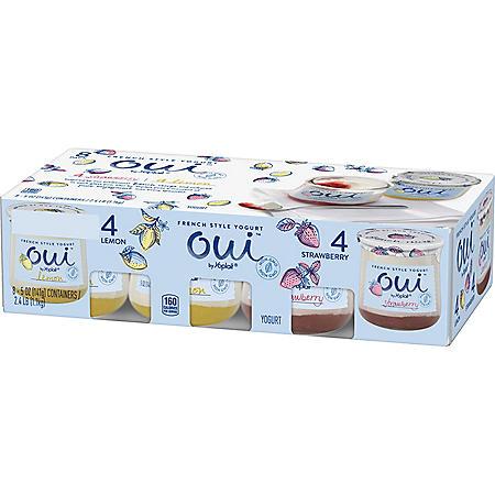 Oui By Yoplait French Style Yogurt, Lemon and Strawberry (5 oz., 8 pk.)