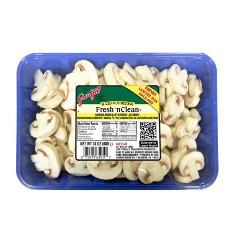 Sliced White Mushrooms (24 oz.)