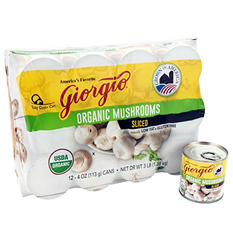 Giorgio Organic Mushrooms (12 cans, 4 oz. ea.)