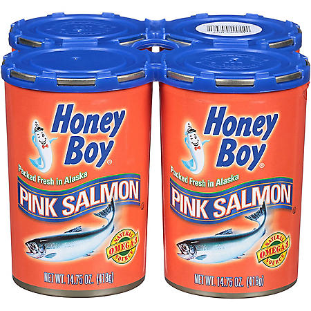 Honey Boy Pink Salmon (14.75 oz., 4 pk.)