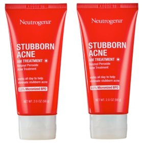 Neutrogena Stubborn Acne AM Treatment with Benzoyl Peroxide (2 oz., ea, 2 pk.)