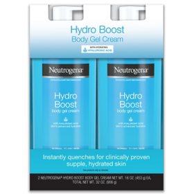 Neutrogena Hydro Boost Body Gel Cream with Hyaluronic Acid (16 oz., 2 pk.)