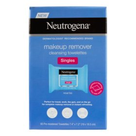 Neutrogena Makeup Remover Cleansing Towelette Singles Individually Wrapped (60 ct)