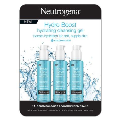 Neutrogena Hydro Boost Hydrating Cleansing Gel (6 oz., 3 pk.)