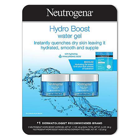 Neutrogena Hydro Boost Water Gel Twinpack with Bonus Mask (1.7 fl., oz. 2 pk.)