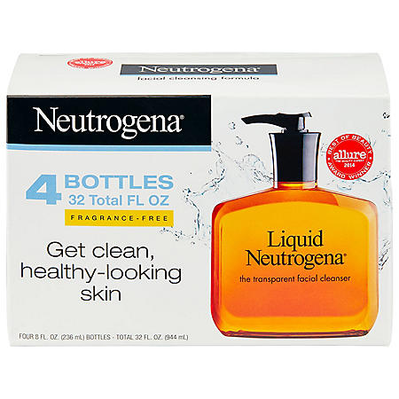 Liquid Neutrogena Fragrance-Free Facial Cleanser (8 fl  oz