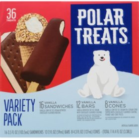 Polar Treats Ice Cream Novelties Variety Pack (36 ct.)
