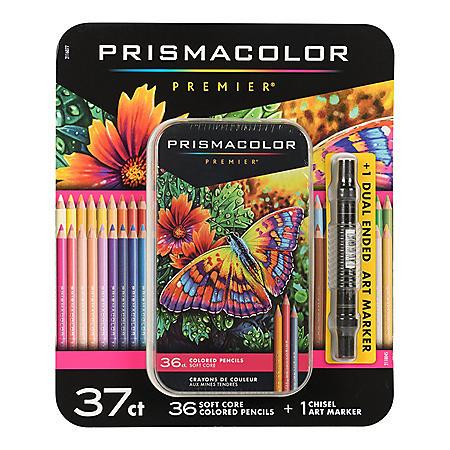 Prismacolor Premier Soft Core Colored Pencils, Assorted Colors, 37ct.