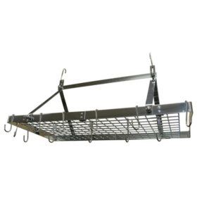 Range Kleen Rectangle Stainless Steel Hanging Pot Rack