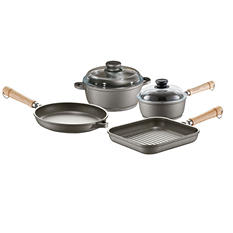 6-Piece Tradition Cookware Pan Set with Non-Stick Coating