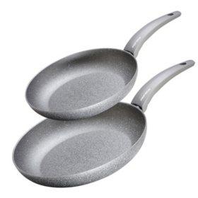 "Moneta Greystone 2-Piece Fry Pan Set (10"" and 11.5"")"
