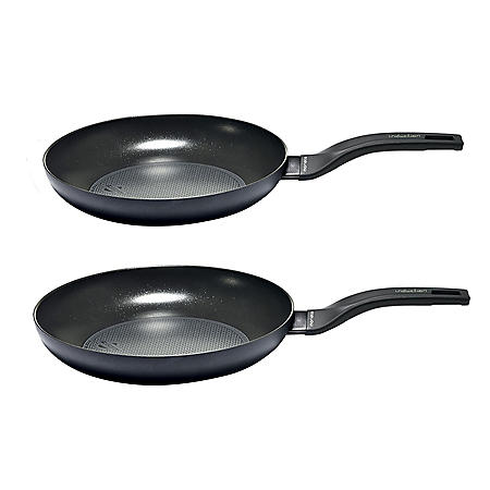 """Moneta Nova Induction Fry Pan Cookware Set with Protection Base Nonstick Coating (10"""" and 11.5"""")"""