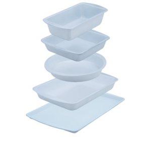 5-Piece CeramaBake® White Ceramic Coated Non-Stick Bakeware Cooking Set
