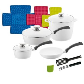 Berndes 13-Piece Signocast Pearl Ceramic Cookware Set