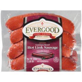 Evergood Louisiana Brand Hot Link Sausage (32 oz.)