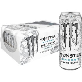 Monster Energy Drink, Zero Ultra, Sugar Free (16 oz. cans, 24 ct.)