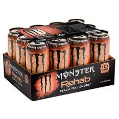Monster Energy Rehab Peach Tea + Energy (15.5 oz., 12 ct.)