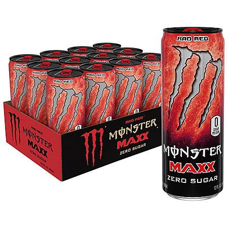 Monster Energy MAXX Rad Red (12oz / 12pk)