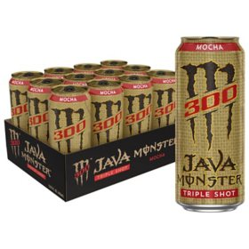 Monster Java 300 Triple Shot, Mocha (15 fl. oz., 12 pk.)