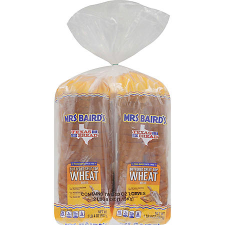 Mrs. Baird's Buttered Split Top Wheat (24 oz., 2 pk.)