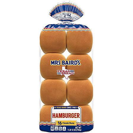 "Mrs. Baird's 4"" Hamburger Bun (16 ct.)"