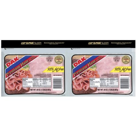 Dak Premium Ham Slices (20 oz. pk., 2 ct.)