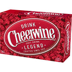 Cheerwine Cherry Soft Drink (12 oz. cans, 24 pk.)