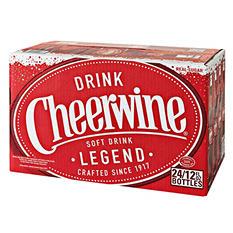 Cheerwine Cherry Soft Drink (12 oz bottles, 24 ct.)