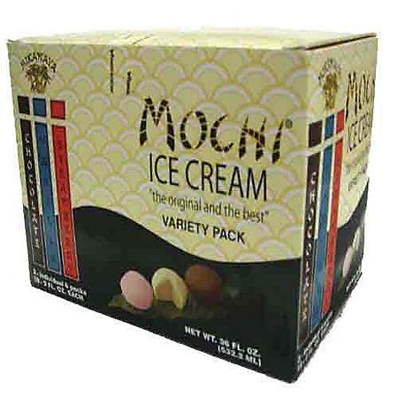 Mikawaya Mochi Ice Cream Variety  (2 oz., 18 ct.)
