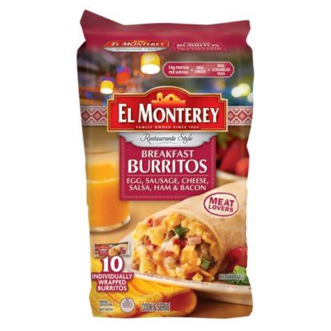 El Monterey Meatlovers Breakfast Burritos (10 ct.)