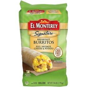 El Monterey Signature Breakfast Burritos, Frozen (14 ct.)
