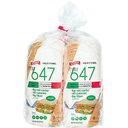 Schmidt Old Tyme 647 Italian Bread (18oz / 2pk)