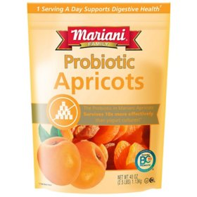 Mariani Premium Dried Fruit Probiotic Apricots (40 oz.)