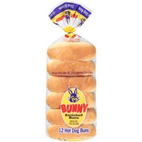 Bunny Enriched Hot Dog Buns (18oz)