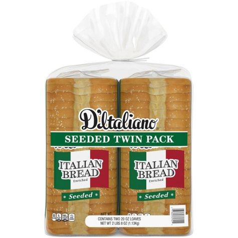 D'Italiano® Seeded Italian Bread - 2/20 oz.