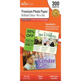 Royal Brites Glossy Photo Paper 4 X 6 300 Ct Sams Club