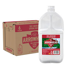 Arrowhead 100% Mountain Spring Water (1 gal. jugs, 6 pk.)