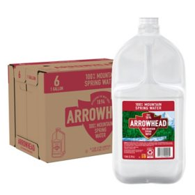 Arrowhead 100% Mountain Spring Water (1gal / 6pk)