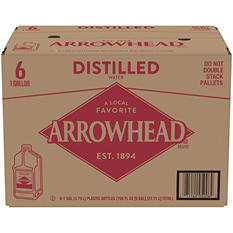 Arrowhead Distilled Water (1 gal. jugs, 6 pk.)