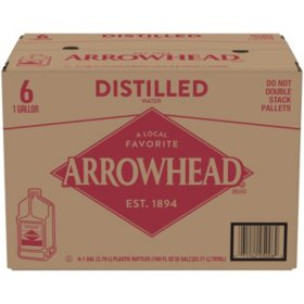 Arrowhead Distilled Water (1gal / 6pk)