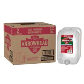 Arrowhead 100% Mountain Spring Water (2.5gal / 2pk)