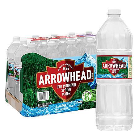 Arrowhead 100% Mountain Spring Water (1L / 15pk)