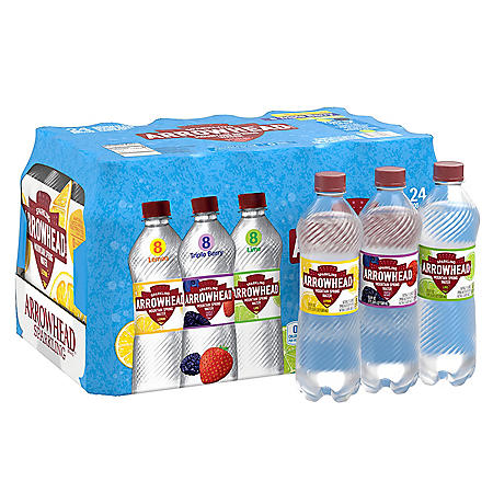 Arrowhead Sparkling Spring Water Variety Pack (16.9oz / 24pk)