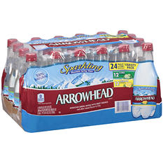 Arrowhead Sparkling Water - Fruit Essence Variety Pack (16.9 oz., 24 pk.)