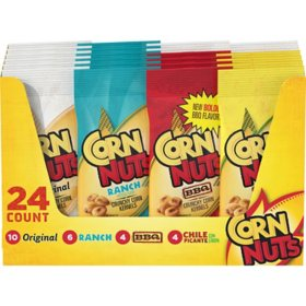 Corn Nuts Crunchy Corn Kernels Variety Pack (1.7 oz. Pouches, 24 ct.)
