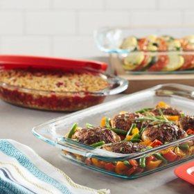 Pyrex 6-Piece Easy-Grab Glass Bakeware Set
