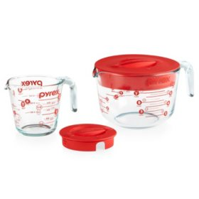 Pyrex 4-Piece Lidded Measuring Cup Set